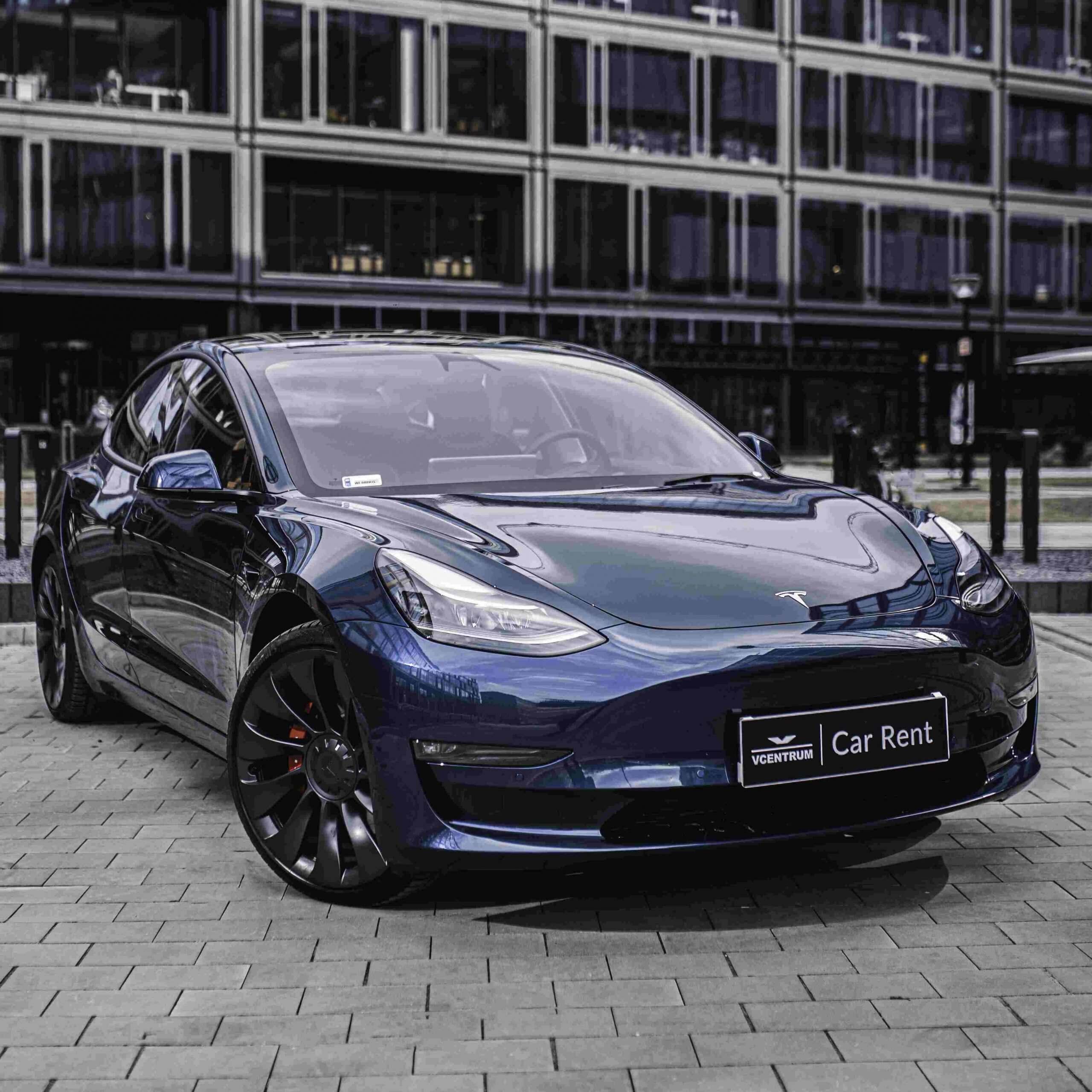 Tesla 3 Performance   - wynajem Warszawa